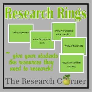 Research Rings from The Curriculum Corner