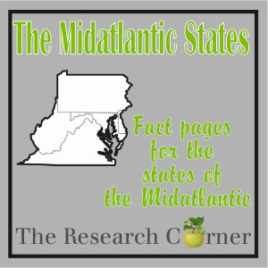 The Midatlantic States Fact Sheets by The Curriculum Corner