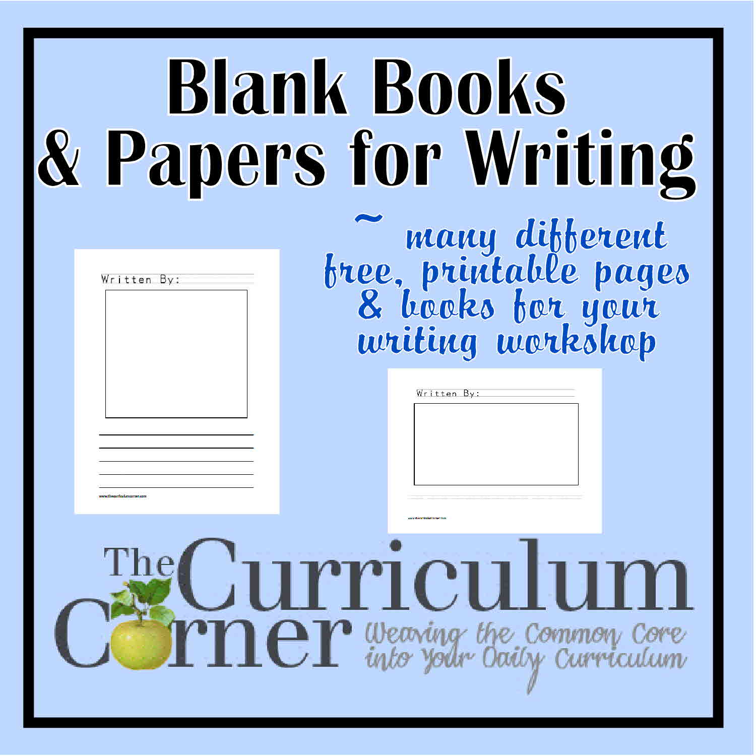 Free Printable Blank Books for Writing Workshop