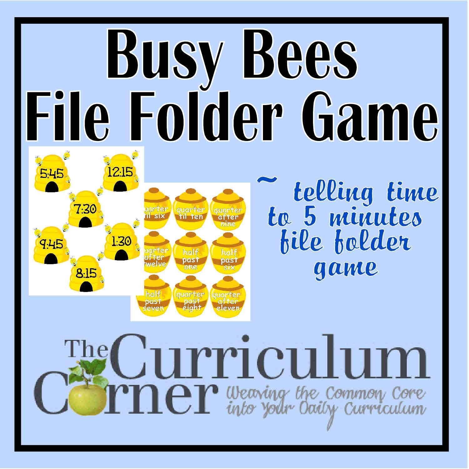 photo about Telling Time Printable Game identify Totally free Printable Occupied Bees Telling Period toward 5 Minutes History