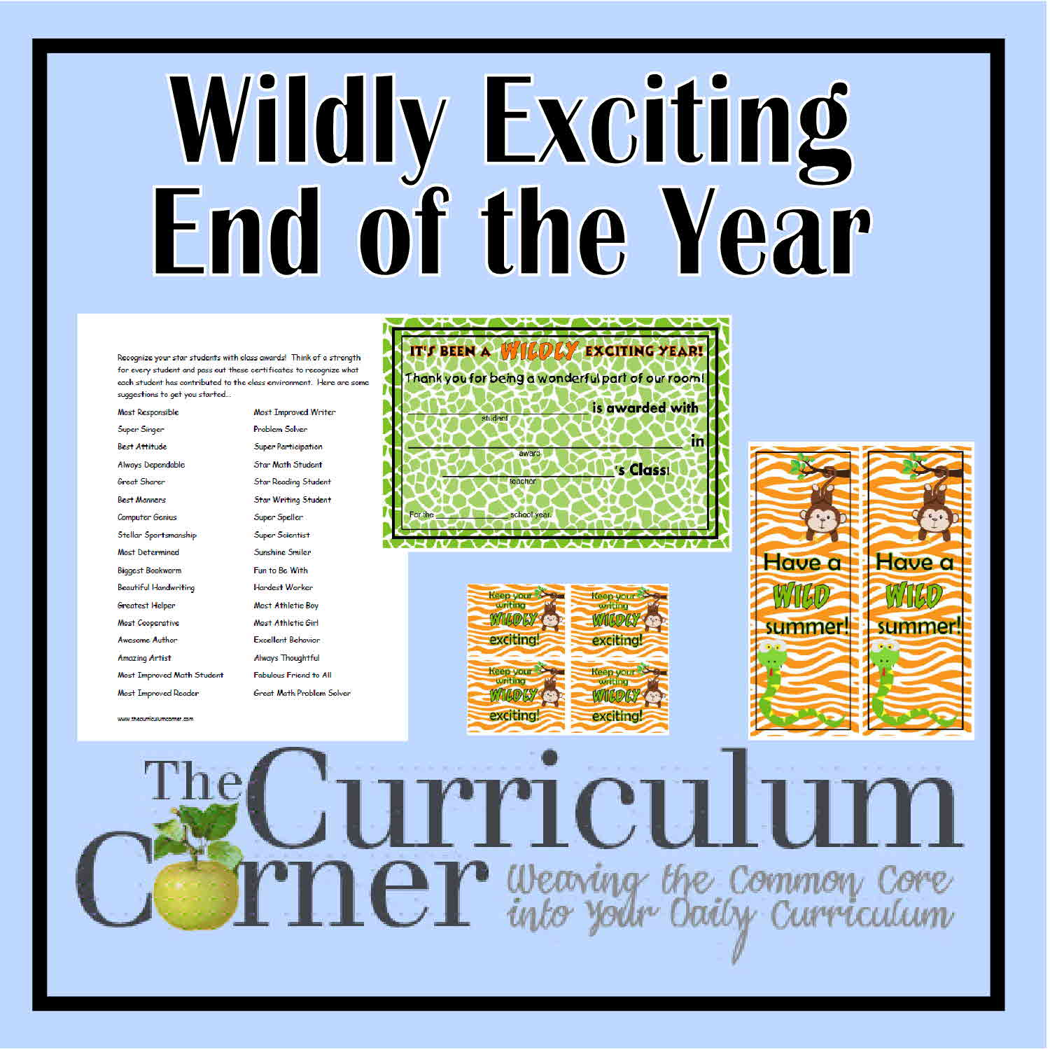 picture regarding Printable End of the Year Awards for Students named A Wildly Attention-grabbing Stop in direction of the Calendar year totally free clroom gain