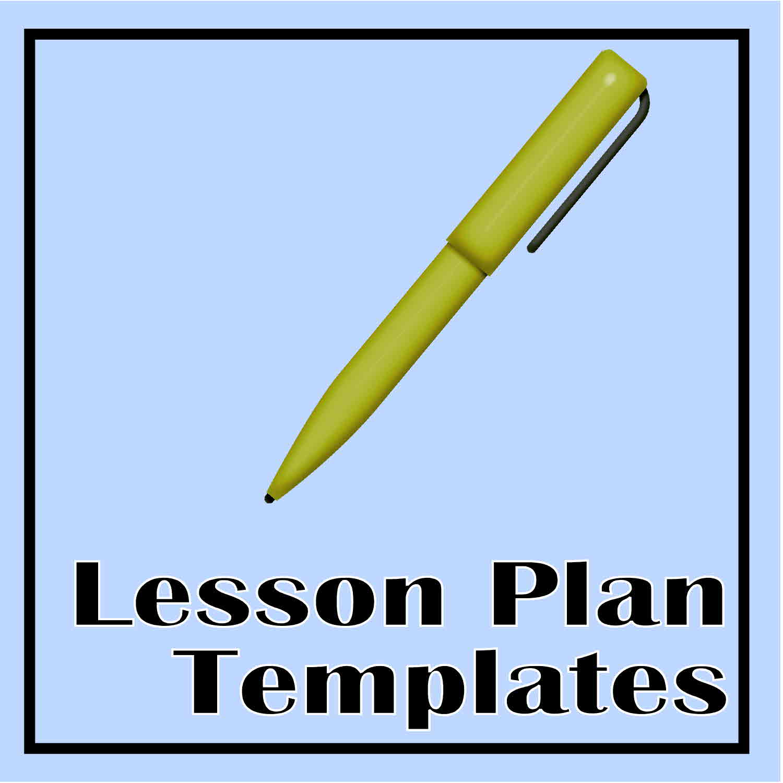 Blank Weekly Preschool Lesson Plan Template Lesson plan template idea ...