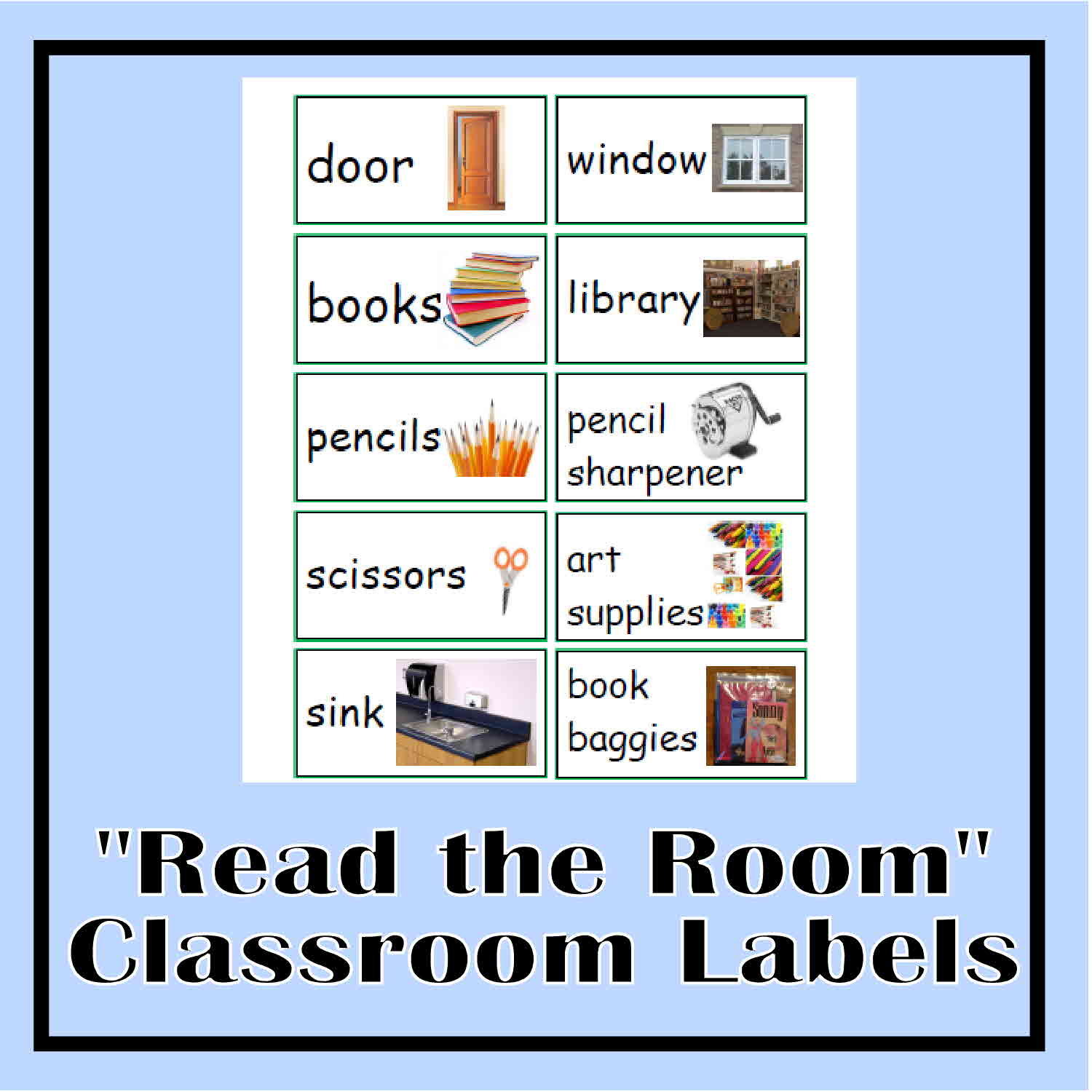 Read the room classroom labels the curriculum corner 123 for Room labels