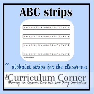 image about Alphabet Strip Printable identify Alphabet Strips - The Curriculum Corner 123
