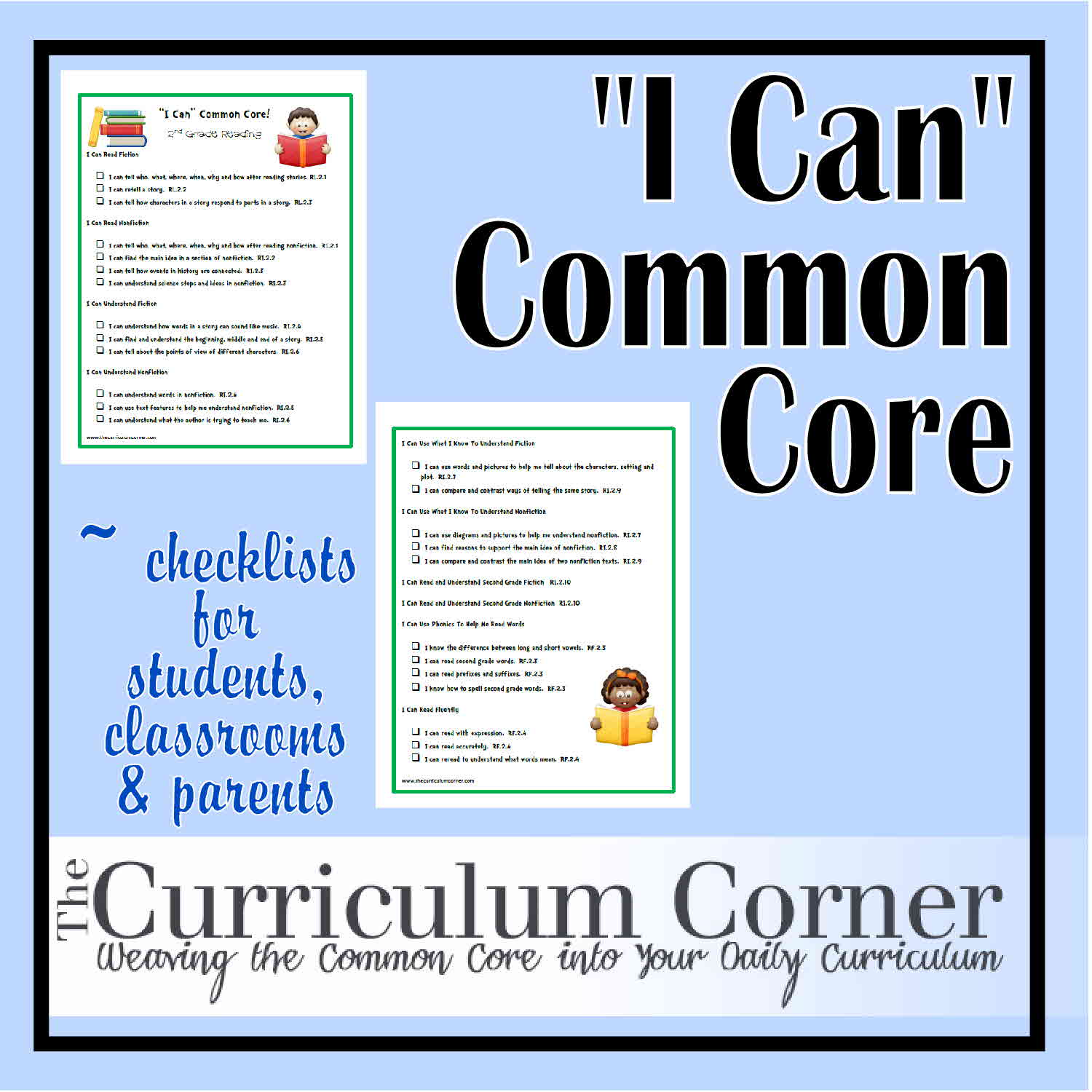 Common Core Standards I Can Statements