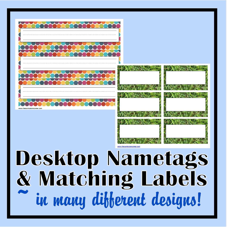 Desk Nametags Classroom Labels