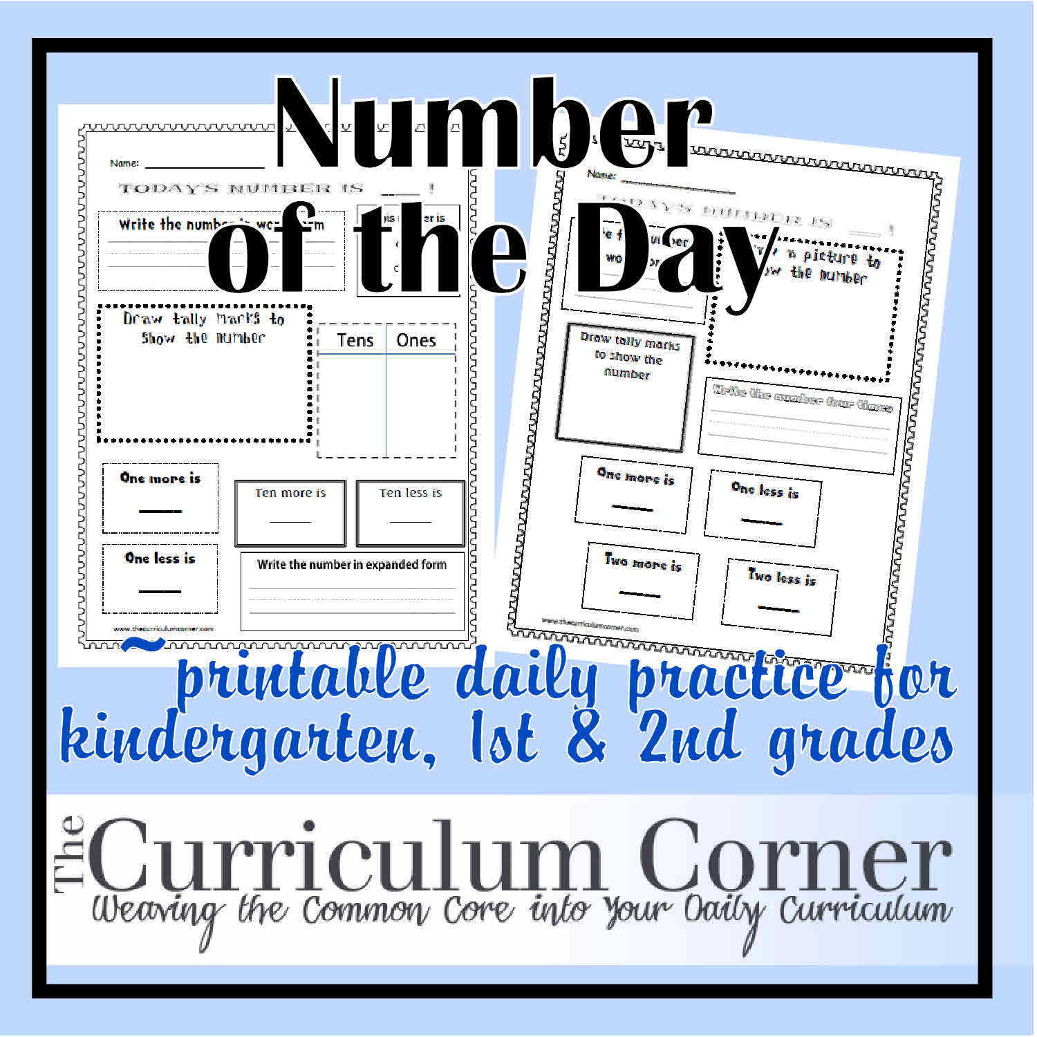 Number of the Day - The Curriculum Corner 123