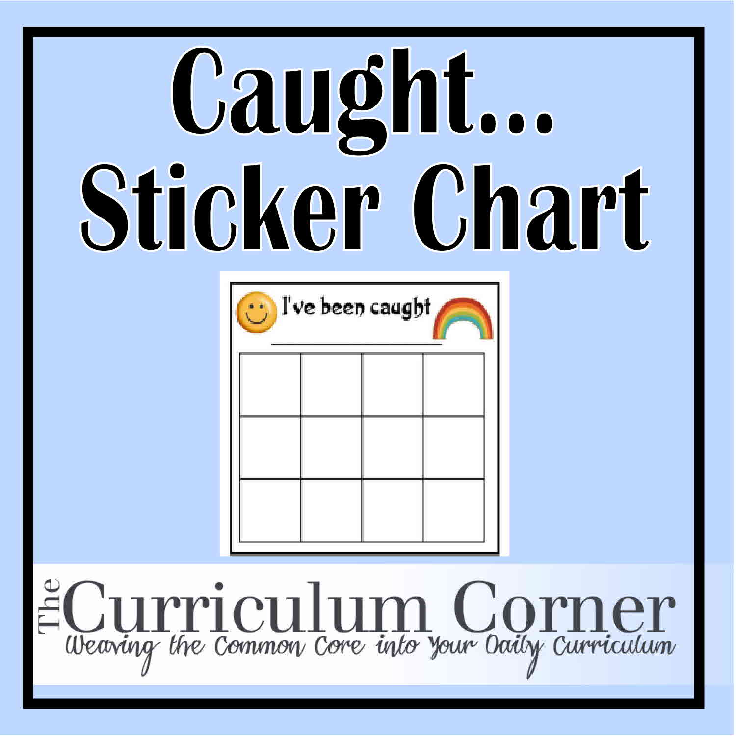 Printable Sticker Charts - The Curriculum Corner 123
