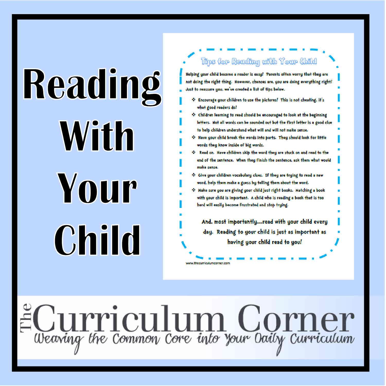 Parent reading tips handout