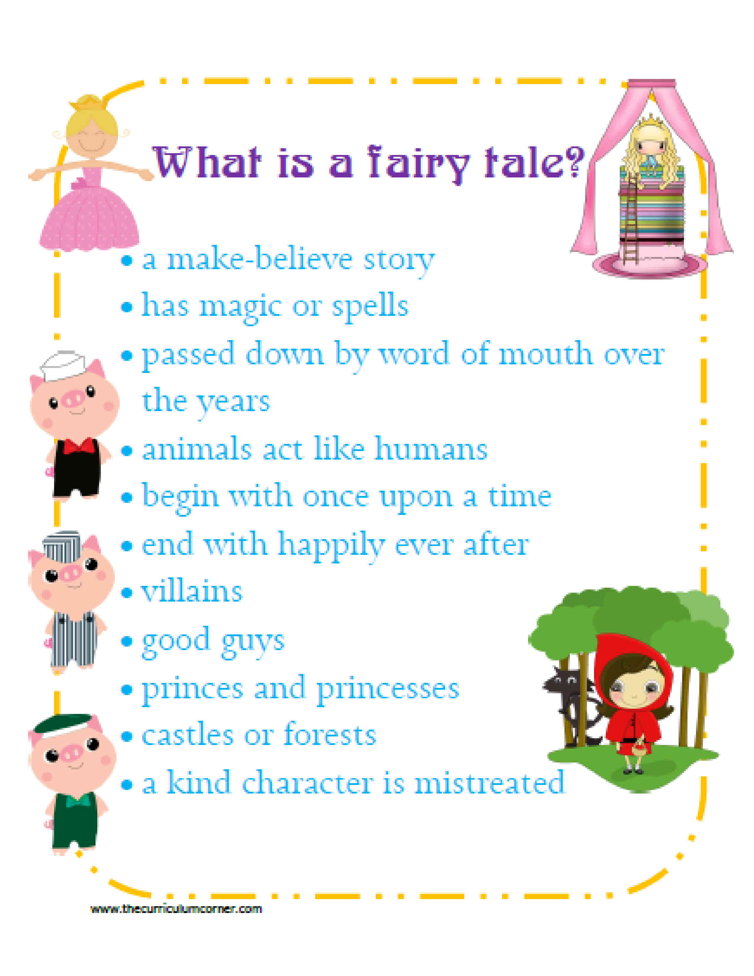 Characteristics of a folktale
