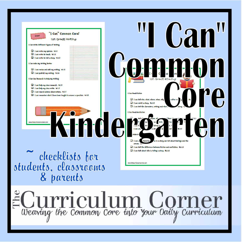 icank - Kindergarten Common Core Math Standards