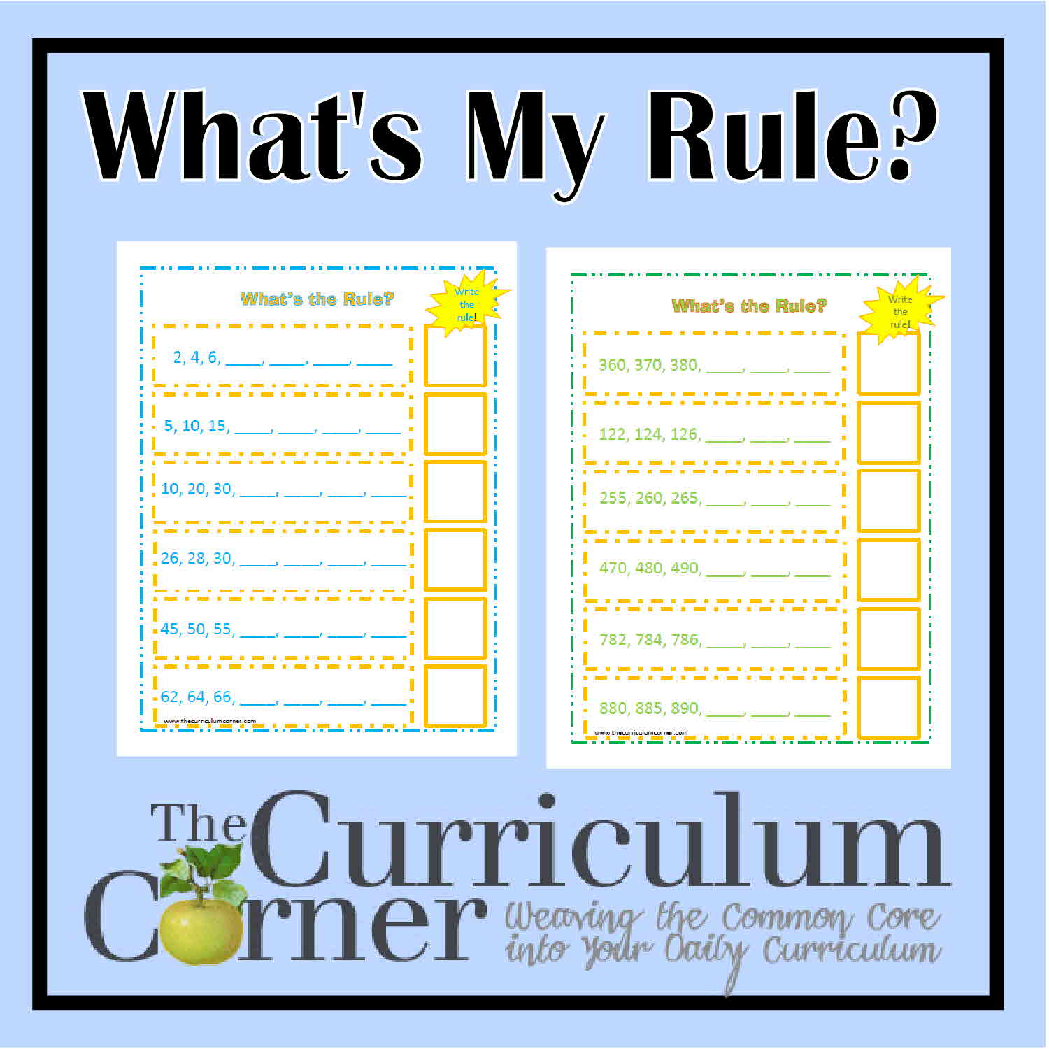Skip Counting by 2s, 5s u0026 10s - The Curriculum Corner 123