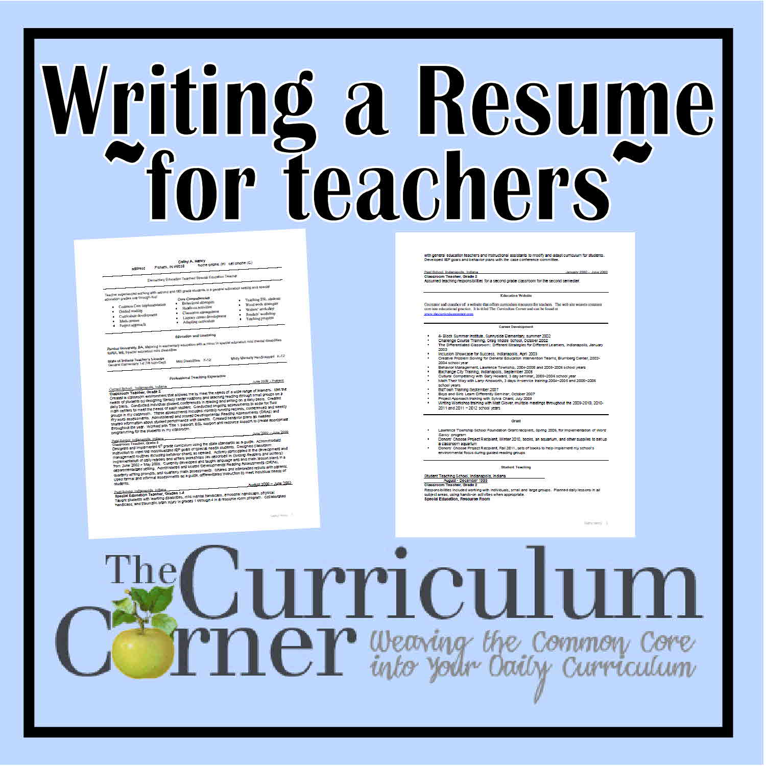 Resume writing service for teachers