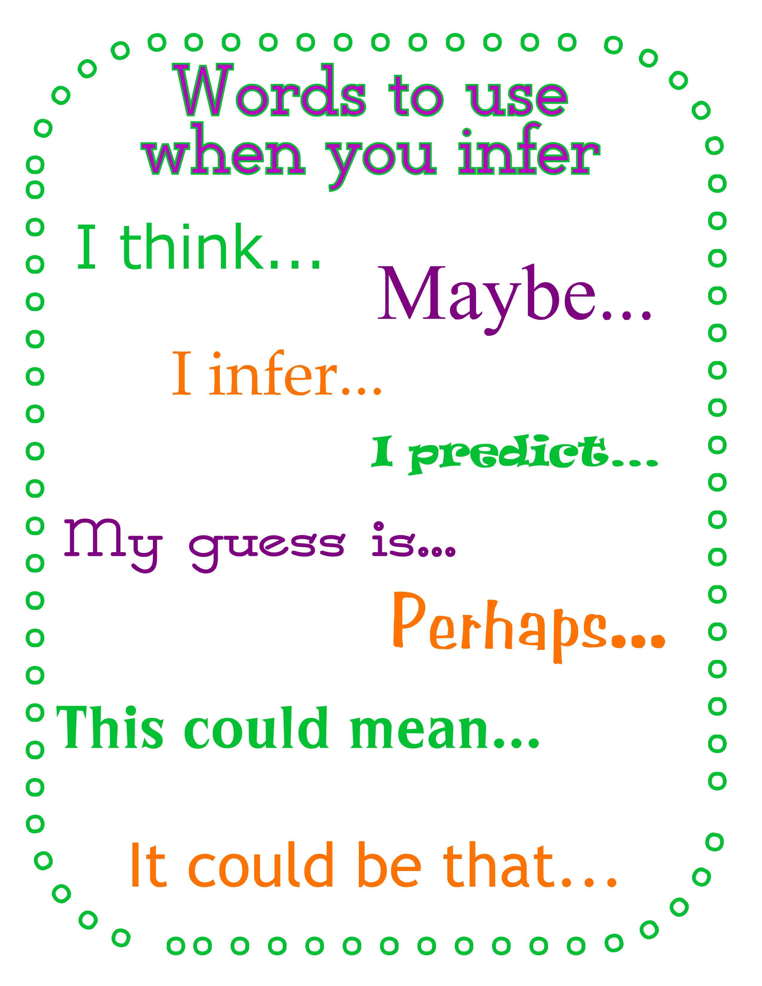 Inferring - Lessons - Tes Teach