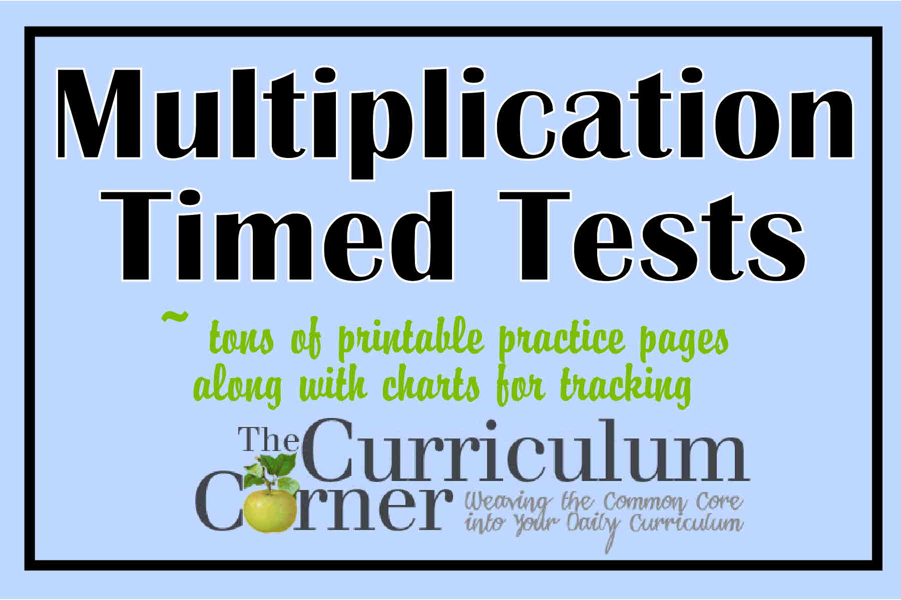 math worksheet : multiplication timed tests  the curriculum corner 123 : Multiplication Test Worksheet