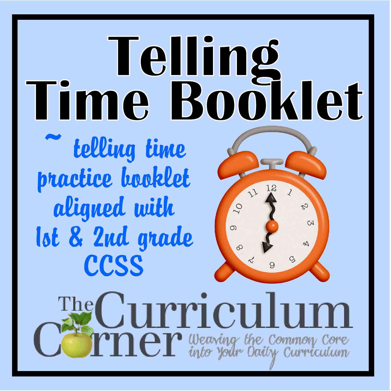 Telling Time Practice Booklet - The Curriculum Corner 123