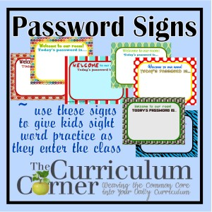 Password Signs