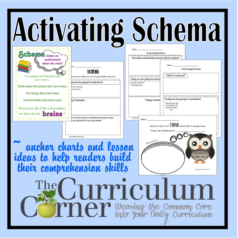 Activating Schema - The Curriculum Corner 123