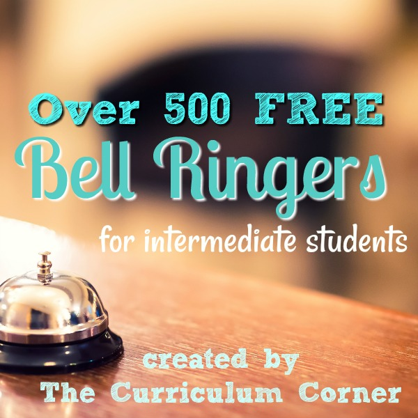 Free monthly bell ringers for fourth, fifth and sixth grade classrooms! Created by The Curriculum Corner