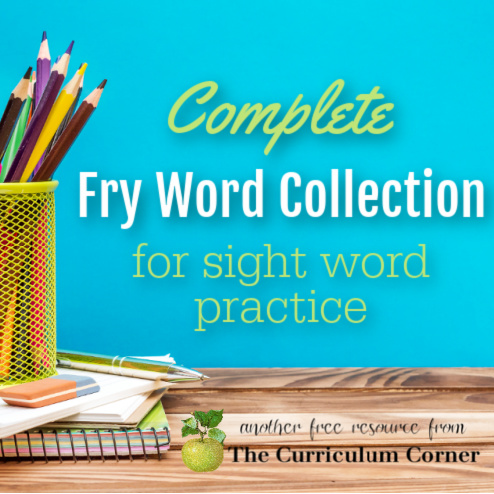 Help your children master sight words with our Fry Word collection. Free printables for assessment, tracking growth, practice and more.